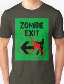 ZOMBIE EXIT SIGN by Zombie Ghetto T-Shirt
