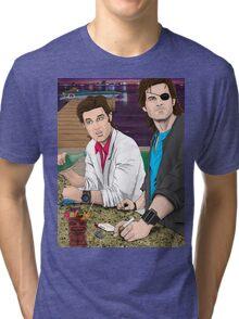 Jack Burton & Snake Plissken Tri-blend T-Shirt