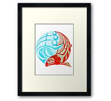 Circling Salmon Framed Print