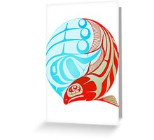 Circling Salmon Greeting Card