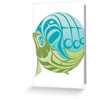 Warm circle salmon Greeting Card