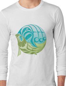 Warm circle salmon Long Sleeve T-Shirt