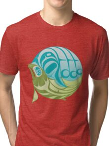 Warm circle salmon Tri-blend T-Shirt