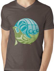 Warm circle salmon Mens V-Neck T-Shirt