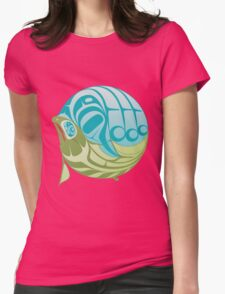 Warm circle salmon Womens Fitted T-Shirt