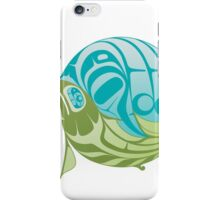 Warm circle salmon iPhone Case/Skin
