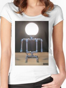 Lamp Baby - FredPereiraStudios_Page_2 Women's Fitted Scoop T-Shirt