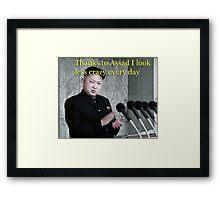 Assad. Kim Jung Un's bff ? Framed Print