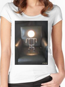 Lamp Baby - FredPereiraStudios_Page_5 Women's Fitted Scoop T-Shirt