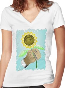 Sunflower  Women's Fitted V-Neck T-Shirt