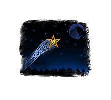 Eagle Shooting star Photographic Print