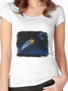 Eagle Shooting star Women's Fitted Scoop T-Shirt
