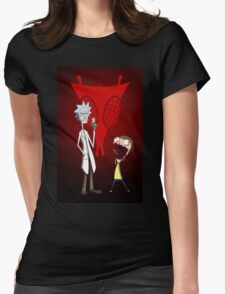Rick and Morty, Invader Zim mashup Womens Fitted T-Shirt