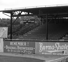 Baseball Field & Burma Shave Sign by Frank Romeo