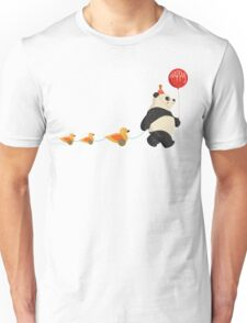 Cute Panda and Ducks Unisex T-Shirt