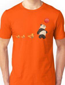 Cute Panda and Ducks Unisex T-Shirt
