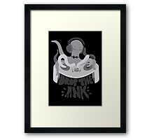 Drop the Ink! (Achromatic) Framed Print