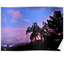 WATER COLORED SKY OVER PALM DESERT Poster
