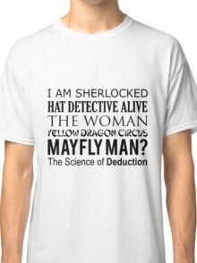 Sherlock- A Study in Typography Classic T-Shirt