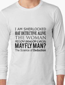 Sherlock- A Study in Typography Long Sleeve T-Shirt