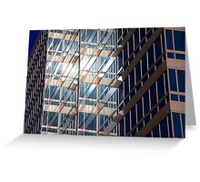 Office Building at Sunset Greeting Card