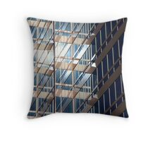 Office Building at Sunset Throw Pillow
