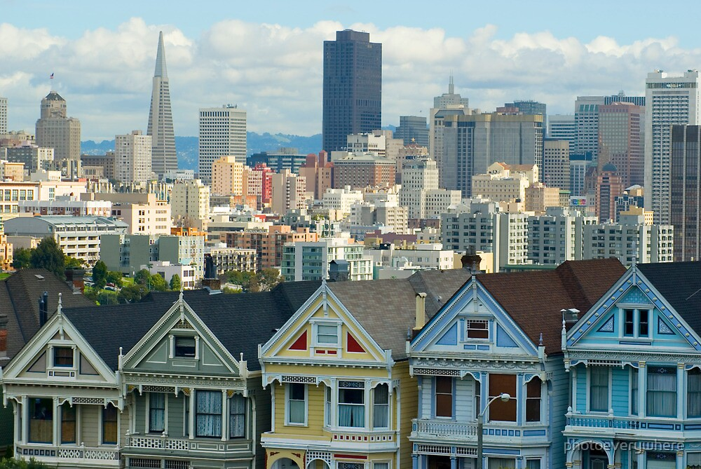 Alamo Square houses by photoeverywhere