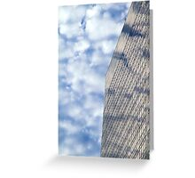 Clouds and Office Building Greeting Card