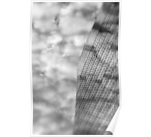 Clouds and Office Building Poster