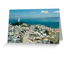 Coit Tower vista Greeting Card