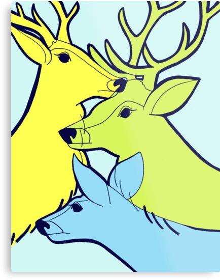 Pastel Deer by Lucie Irvine