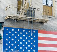 patriotic flag mural by photoeverywhere