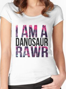 Danisnotonfire danosaur  Women's Fitted Scoop T-Shirt
