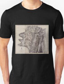 Civil War Maps 0042 Antietam Unisex T-Shirt