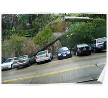 steep hill parking Poster