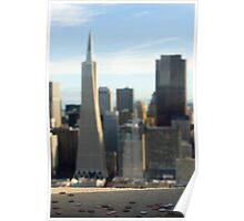 coit tower and city Poster