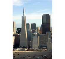 coit tower and city Photographic Print
