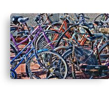 Colorfull bicycles Canvas Print