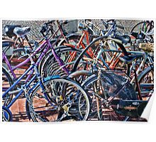 Colorfull bicycles Poster