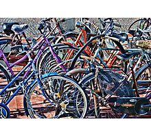 Colorfull bicycles Photographic Print