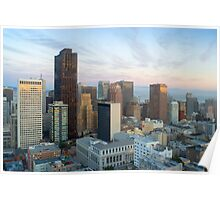 downtown panorama san francisco Poster