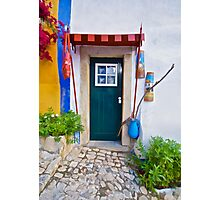Colorful Wood Door of Portugal Photographic Print