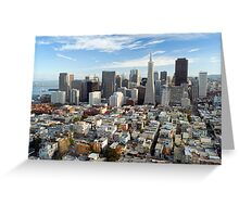san francisco downtown district Greeting Card