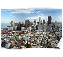 san francisco downtown district Poster