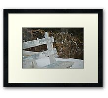 The Old Bench Framed Print