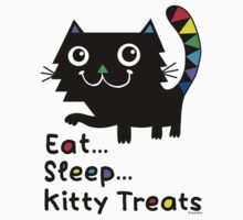 Eat, Sleep, Kitty Treats  Kids Clothes