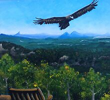 Spirited Eagle - Acrylic Painting by Kristy Spring-Brown