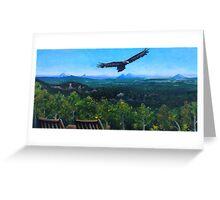 Spirited Eagle - Acrylic Painting Greeting Card
