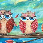 Three little cutie pies - Acrylic Painting by Kristy Spring-Brown