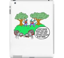 Spider Web Humor iPad Case/Skin